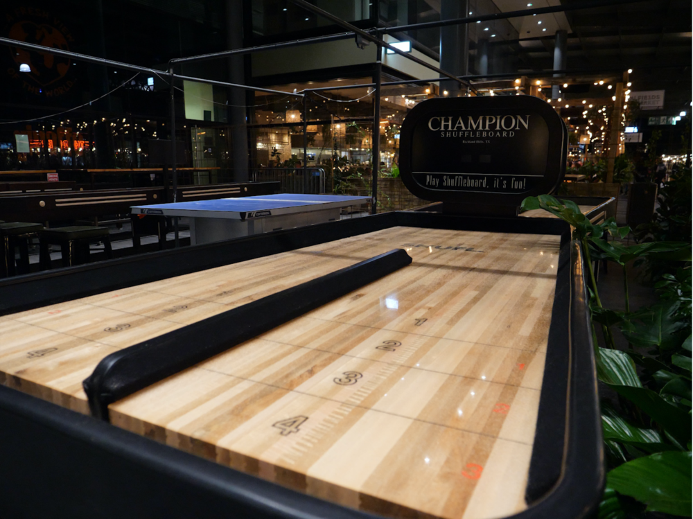bank shot shuffleboard